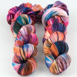 Brediculous Yarns, Addy Socks // Kaleidoscope at  The Loopy Ewe