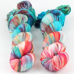 Brediculous Yarns, Addy Socks // Paradise at  The Loopy Ewe
