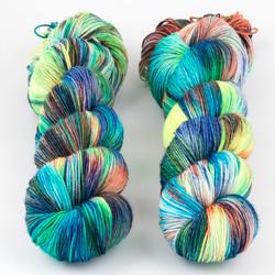 Brediculous Yarns, Addy Socks // Tiki Bar at  The Loopy Ewe