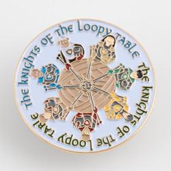Loopy Knights Enamel Pin at  The Loopy Ewe