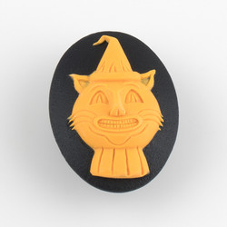 Needle Minder - Halloween Cat at  The Loopy Ewe