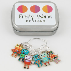 Pretty Warm Designs Stitch Markers at  The Loopy Ewe