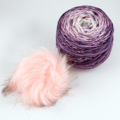 Canon Hand Dyes, Fyodor Bulky with Pompon // Faded Flowers (Pink Pompon)