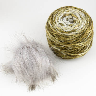 Canon Hand Dyes, Fyodor Bulky with Pompon // Dry Martini (Grey Pompon)