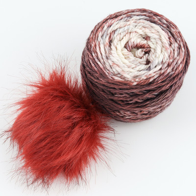 Canon Hand Dyes, Fyodor Bulky with Pompon // Desert Rose (Red Pompon)