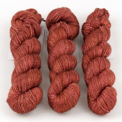 JulieSpins, Cashmere Silk Lace // Chipotle