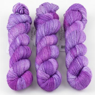 JulieSpins, Cashmere Silk Lace // African Violet