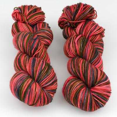 Fibernymph Dye Works, Self Striping // A Little Bit Wicked