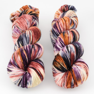 Into the Whirled, Resist Dyed - Meridian Sock // Heirloom Ornamental
