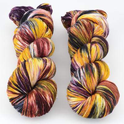 Into the Whirled, Resist Dyed - Meridian Sock // Rhinebeck