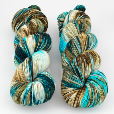Into the Whirled, Resist Dyed - Meridian Sock // Leviathan