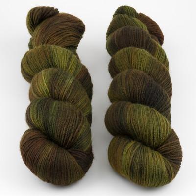 Qing Fibre, Super Soft Sock // Moss