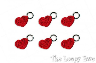 Crocheted Heart Stitch Markers