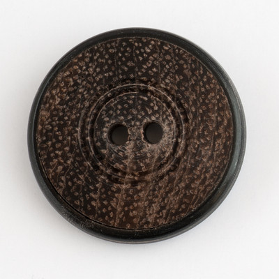 "Horn/Rosewood - 1"" Round Button (CHW4/25)"