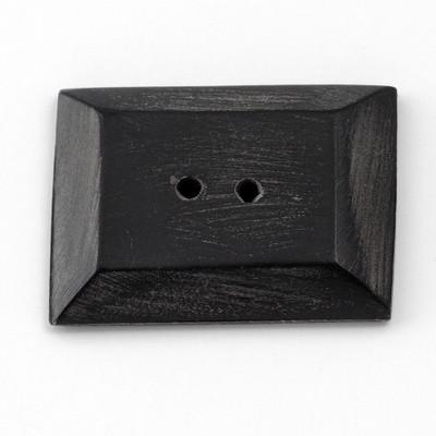 """Horn 3-D Rectangle - 1 3/8"""" Button (H38/35)"""