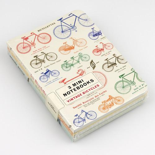Cavallini 3-Pack Mini Notebooks in Bicycles
