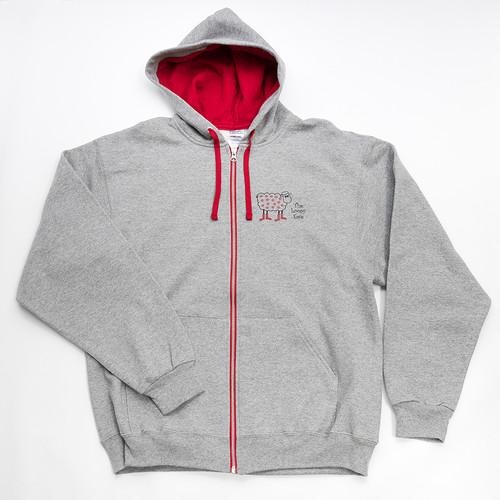 Gray + Red Zip Sweatshirt - 3XL