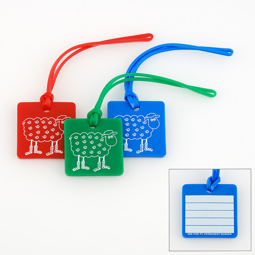 Loopy Colored Project Bag Tags at  The Loopy Ewe