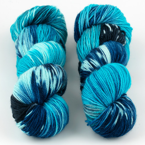 Essence of Autumn, Pasture Sock // Sun Bleached Indigo at  The Loopy Ewe