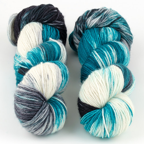 Essence of Autumn, Pasture Sock // Perfect Storm at  The Loopy Ewe