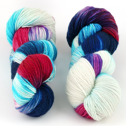 Essence of Autumn, Pasture Sock // Berries in the Snow at  The Loopy Ewe
