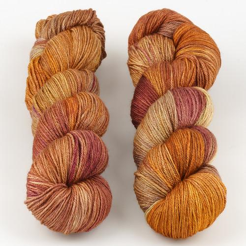 JulieSpins, Silky 435 // Caramel at  The Loopy Ewe