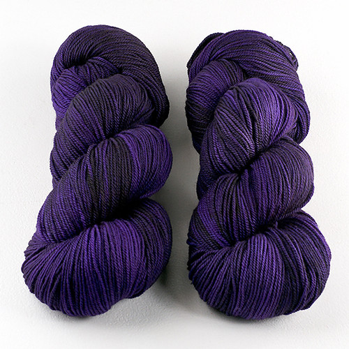 Dream in Color, Smooshy with Cashmere // Amethyst Ink at  The Loopy Ewe