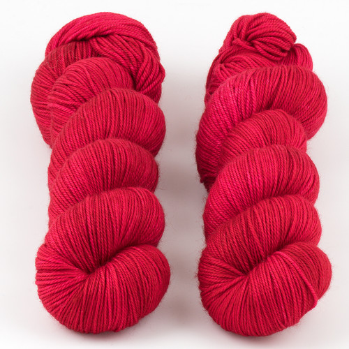 Dream in Color, Smooshy with Cashmere // Charged Cherry at  The Loopy Ewe