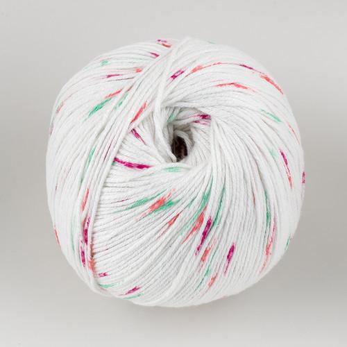 Universal Yarn, Bamboo Pop // Watermelon Dots (304) at  The Loopy Ewe