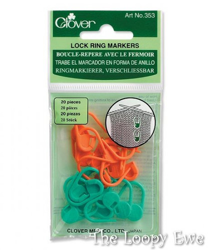 Locking Stitch Markers (353) at  The Loopy Ewe
