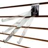Slatwall Adjustable Angle Shelf Brackets - Chrome