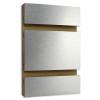 Slatwall Panel - 4' x 8' - HPL Brushed Aluminum