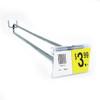 "11"" Zinc Pegboard Flip Up Scanner Hooks with Label Holders"