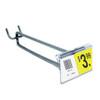 "6"" Zinc Pegboard Flip Up Scanner Hooks with Label Holders"