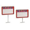 Chrome Magnetic Base Retail Sign Holder
