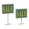 Chrome Frame Retail Rack Magnetic Base Sign Holder