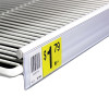 "Refrigerator Double Wire Shelf Ticket Channel, 29.5"" L - White"