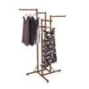 Antique Copper 4 Way Clothing Rack