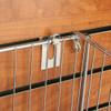 Slatwall Open End Basket Holding Notch Hook, Chrome