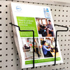 Wire Magazine Holder for Slatwall, Pegboard & Gridwall