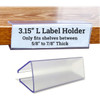 Wood Shelf Label Holder, Clip On Ticket Holder