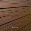 3D Slatwall Panel 2' x 8' -  Weave Design