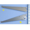 Adjustable Angle Shelf Brackets for Medium Duty Slotted Wall Standards