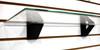 Slatwall Glass Shelf Bracket, Low Profile Support for Glass Shelving
