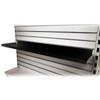 Black Metal Slatwall Shelf, Heavy Duty Steel Slat Shelving