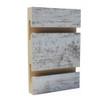 Slatwall Panel - 4' x 8' - White Rustic Farm