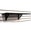 "Slatwall Wood Shelf Kit with High Quality Support Brackets 12"" D x 24"""
