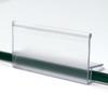 Glass Shelf Clip On Label Holder, 50 Pack