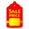 """1000 Large Red & Yellow Unstrung Sale Price Tags - 1.75"""" W x 2.875"""" H"""