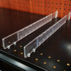 "Plastic Adjustable Depth Gondola Shelf Dividers - 8"" to 22"" D"